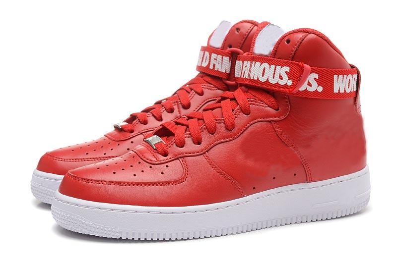 Nice 2019 Hot Selling AF1 Men S Women S High MID Skateboarding Sports Shoes  Couple Red Black Red Air Skate Sneaker Size EUR36 45 UK 2019 From  Nice sneaker 7db229c1c6