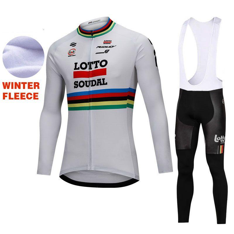 Compre 2018 Pro LOTTO Ciclismo Jersey Manga Longa De Inverno Velo Maillot  Bicicleta Sportwear Ciclo Clothing Mtb Bicicleta Ciclismo Jaqueta 9D Pad De  ... 0ba536ae1a93f