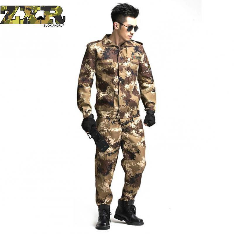 1bf10821c2943 Compre Zuoxiangru Us Ejército Camuflaje Conjunto De Ropa Hombres Soldados  Tácticos Combate Traje Chaqueta Multicam Camo Ropa Uniforme Militar  D18101006 A ...