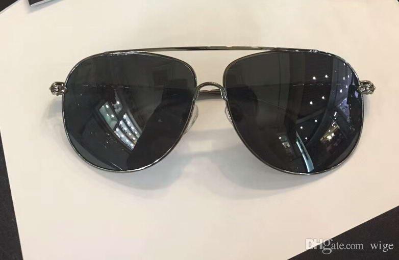 00c7cb1d32 Cool MEN Chrome Wgholek Sunglasses Metal Frame Strains Eye Wear ...