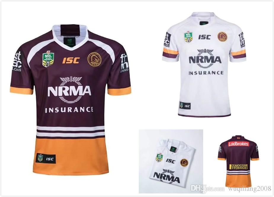 2019 New Brisbane Broncos 2018 2019 Home Away Rugby Jerseys NRL National Rugby  League Shirt Nrl Jersey 18 19 BRISBANE BRONCOS Shirts S 3xl From ... 3407dff44