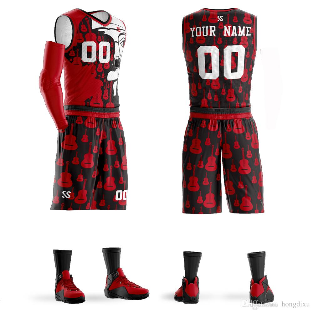 9f035d2c3d6c 2019 High Quality Custom Sublimation Basketball Uniform Professional Design  Quick Dry Breathable Basketball Jersey Training Suit From Hongdixu