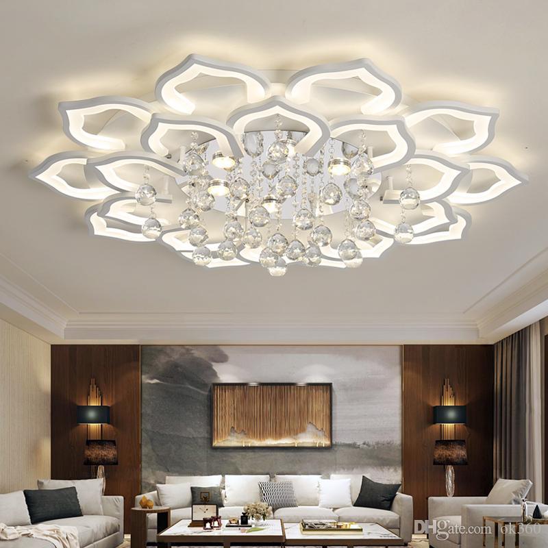 Großhandel Moderne Kristall Led Deckenleuchten Für Wohnzimmer Schlafzimmer  Arbeitszimmer Home Deco Deckenleuchten Lampe Mit Fernbedienung Von Ok360,  ...