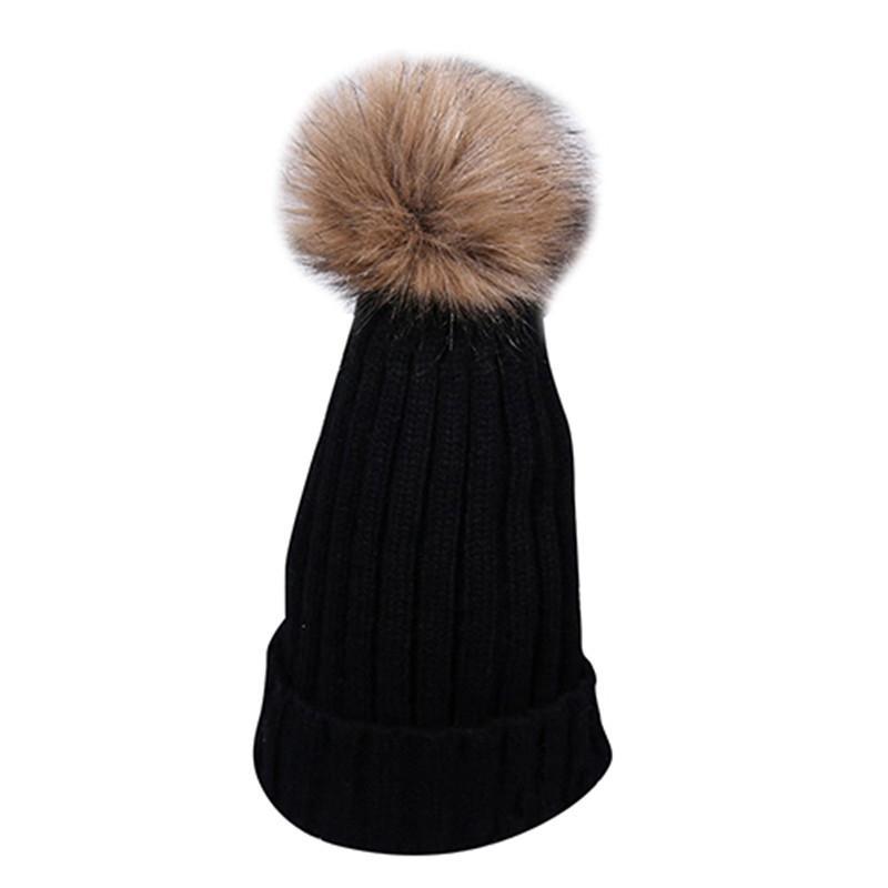 Women s Autumn Winter Fashion Fuzzy Ball Crochet Knitted Hat Hemming Warm  Cap Women Winter Hats Crochet Knitting Wool Cap Mens Hats Straw Hat From  Arrowhead ... 6f81058573b
