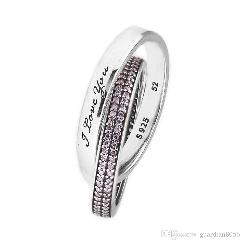 636e3fe32 2019 Compatible With European Pandora Jewelry Sweet Promise Ring Original  Wedding Rings 925 Sterling Silver Jewelry DIY Wholesale From Guardian8056,  ...