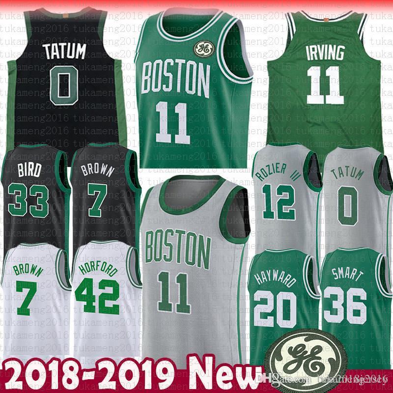 a96684ca8b0 Boston 11 Kyrie Irving Celtics 7 Jaylen Brown Jersey 0 Jayson Tatum ...