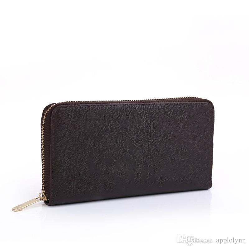 b9d6124e4 Compre Marca Mujer Billeteras Monederos Diseñador es Pu Estilo Largo Diseño  Con Tarjetero A $17.24 Del Applelynn | Dhgate.Com