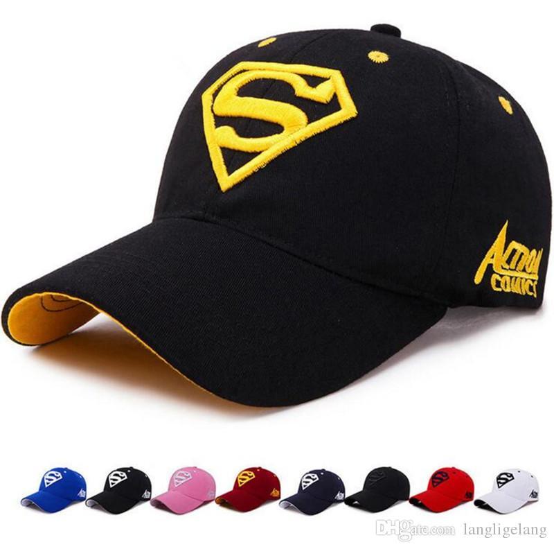 62495fc3 100% Cotton Superman Baseball Caps Travis Scott Unisex Astroworld ...