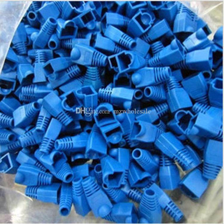 RJ45 Connector Cat 5 5e 6 RJ45 Plug Cap Ethernet Network Cable Strain Relief Boot RJ45 plug Socket Boot