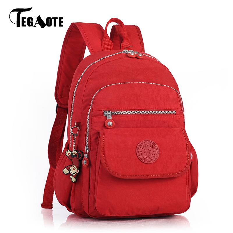 9befc940a1 TEGAOTE Women Small Mini Backpack For Teenage Girl Backpacks Bag Mochila  Feminine Bolsa Casual Nylon Waterproof Bagpack 2018 Backpack Brands Rucksack  ...