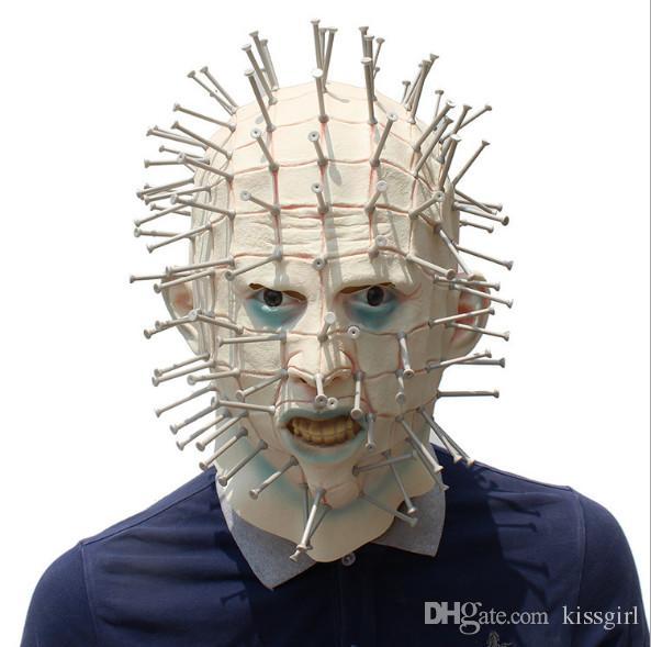 große Vielfalt Stile modernes Design Offizielle Website 2018 Latex Kopfbedeckungen Terror Maske Hallowmas Horror Latex Maske  Cosplay Halloween Party Schreckliche Masken