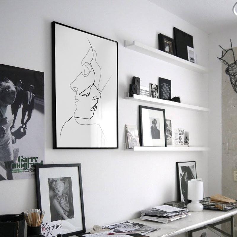 Acheter Picasso Minimaliste Art Toile Affiche Peinture Noir Blanc