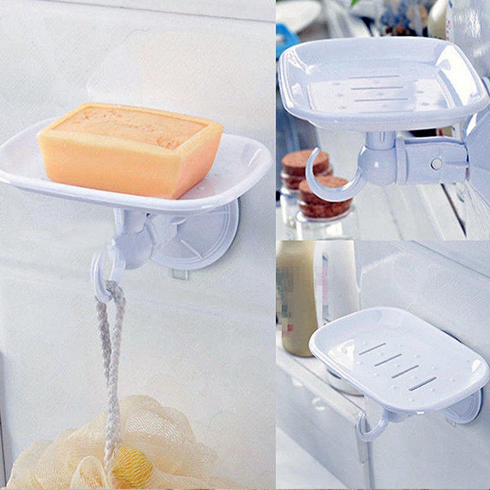 Acheter Durable Blanc Ventouse En Plastique Porte Savon Panier Plateau Cuisine Douche X 1 De 2151 Du Easefit