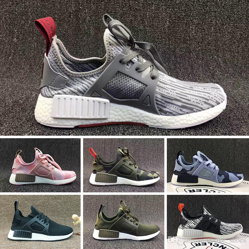 wholesale dealer de2cf 80d37 Compre Wholesal R1 Primeknit Triple Black White Zapatos Para Hombre De  Japón Nmds Pk Zapatos De Diseño Para Hombres Y Mujeres Top Quality Real  Boost Zapatos ...