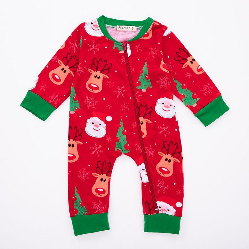 Jumpsuit Weihnachten.Baby Weihnachten Elch Jumpsuit Weihnachtsmann Portrat Hirsch Weihnachtsbaum Schneeflocke Reissverschluss Neugeborenes Baby Boy Girl Designer Kleidung