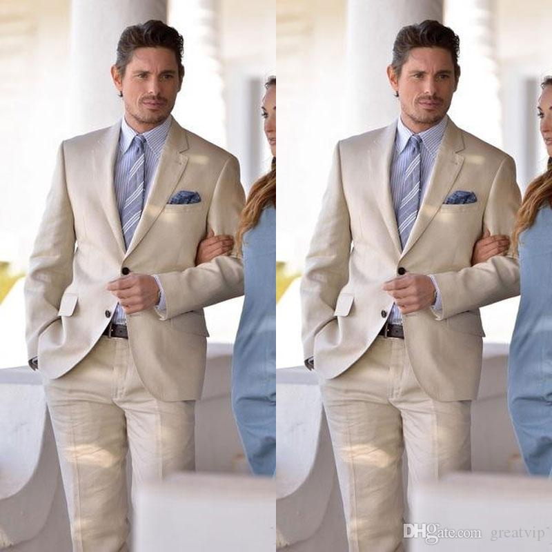 champagne men suits stylish grooms men beach - suits for beach wedding