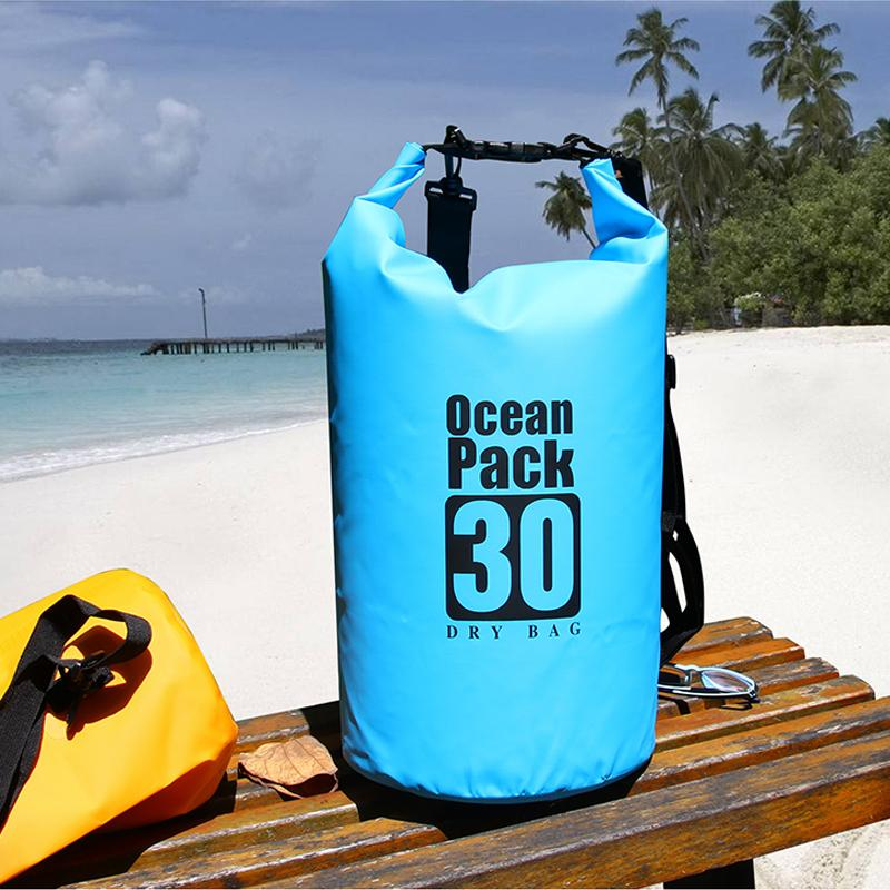 0b4589975d 2019 PVC 5L 10L 20L Outdoor Diving Compression Storage Waterproof Bag Dry  Bag For Man Women Swimming Rafting Kayak From Annuum