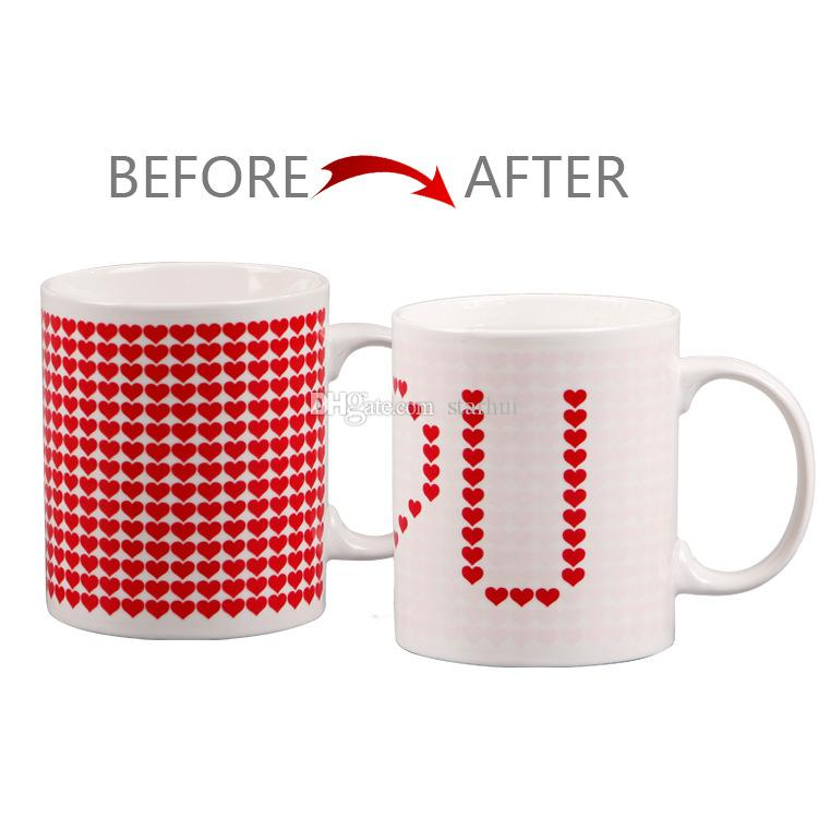 301-400 ml Takımyıldızı Kahve Kupa Yıldız Işareti Sihirli Kupa Bardak Değişimi Renk Çay Kahve Su Bardağı Serin Isı Değişen Renk Seramik Bardaklar WX9-528
