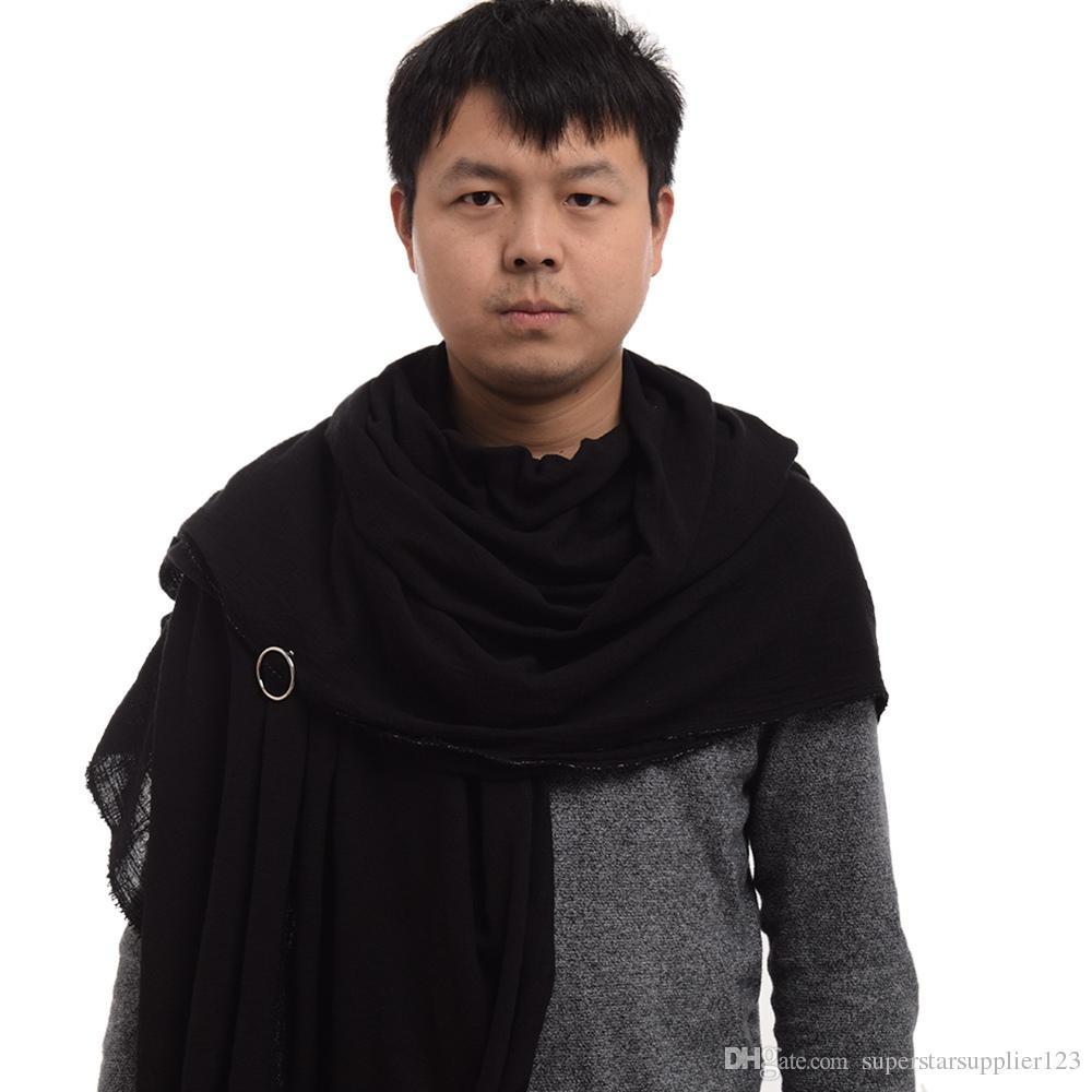 빈티지 중세 스카프 포스트 종말론의 샤먼 엘븐 레인저 목도리 남성 면화 브라운 랩 망토 빠른 배송 새로운