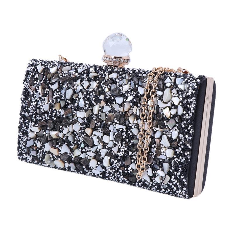 Fashion Evening Clutch Bag Womens Rhinestone Clutch Purse Elegant Bridal  Prom Handbag Hot Sale Black Clutch Luxury Handbags From Diyplant b705db343ddcd