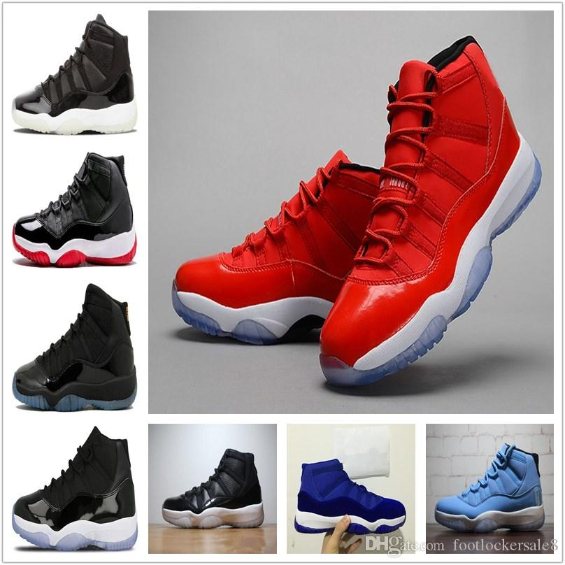 c442f028b3fd77 2018 New 11 11s Prom Night Cap And Gown Gym Red Space Jam Win 96 11s Mens Basketball  Shoes Athletic Sports Trainers Sneakers Basketball Shoes Sports Shoes ...
