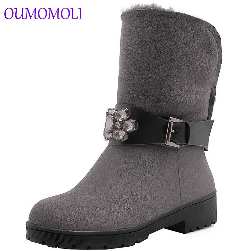 Women Half Boots Winter Short Boot Warm Shoe Flat Botas Mujer Snow Boots  Buckle Fashion Round Toe Shoes A543 Cowgirl Boots Wide Calf Boots From  Tinypari fc0b67eb84d0