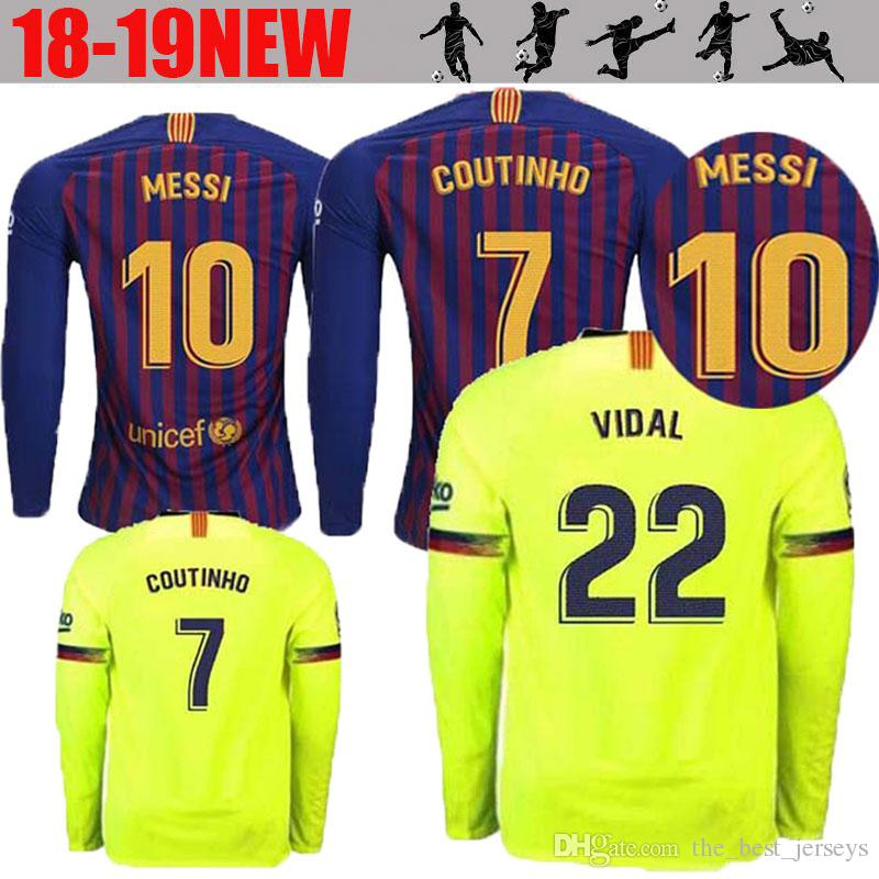 610b4514cc5 ... australia 2018 2019 barcelona jersey 18 19 long sleeve adult home away  third suárez 9 dembele