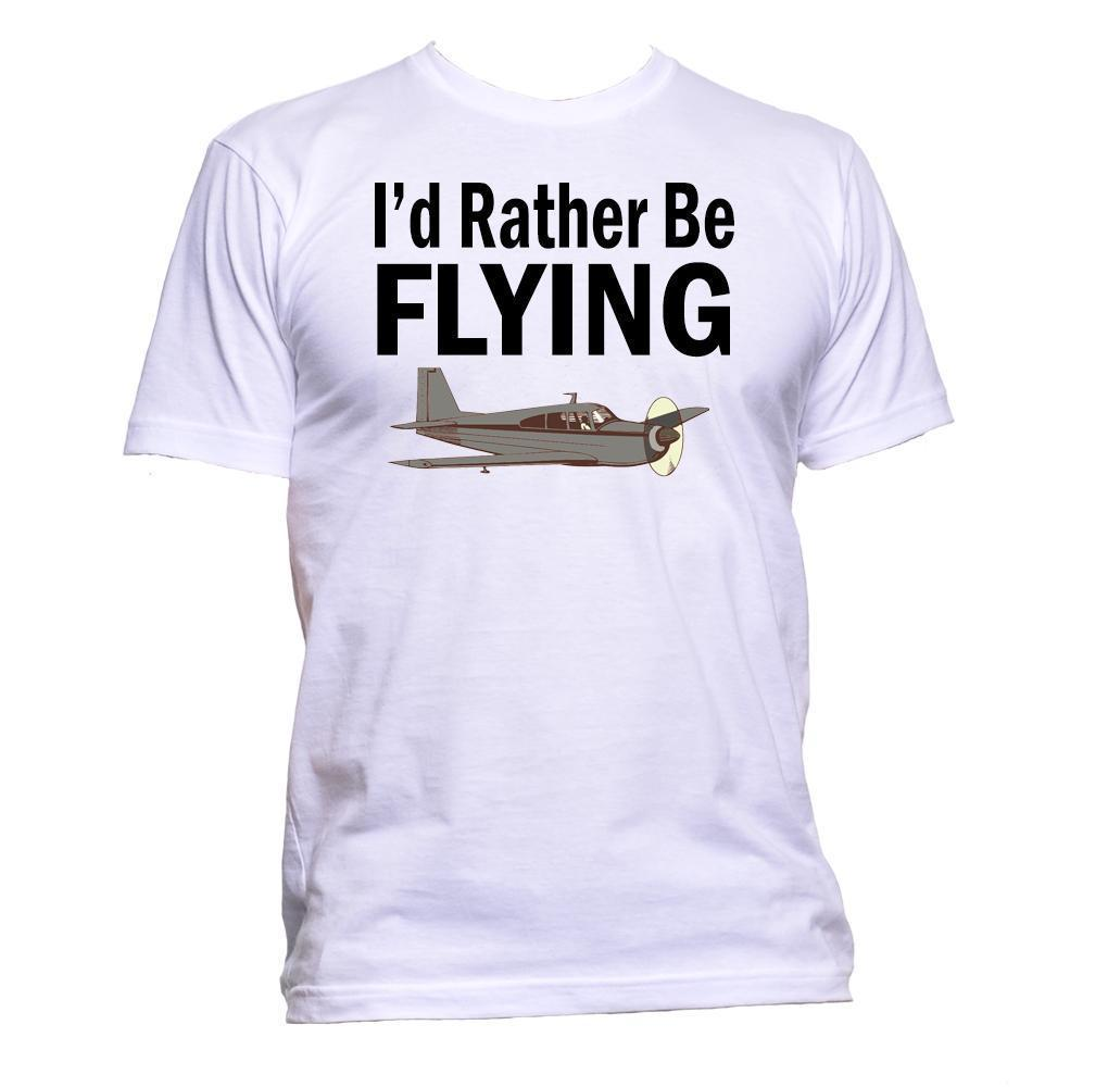 23d64a40 I'd Rather Be Flying T-Shirt Mens Womens Unisex Fashion Slogan Comedy Cool  Funny