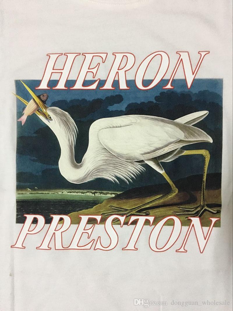 1: 1a Summer Style Airone Preston T-Shirt Uomo Donna High Quality Cotton Heron Preston Tee Hip Hop Streetwear Heron Preston T-Shirt