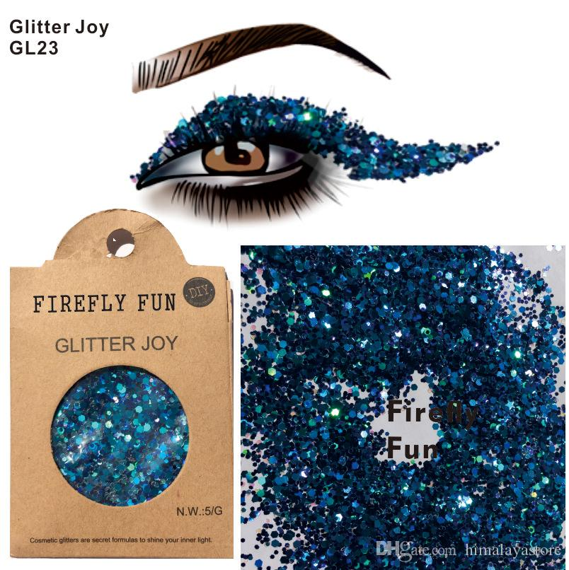 2020 Gl23 Shiny Firefly Fun Eye Glitter Face Body Sequins Decorations Festival Body Dance Makeup Body Art From Himalayastore 1 92 Dhgate Com