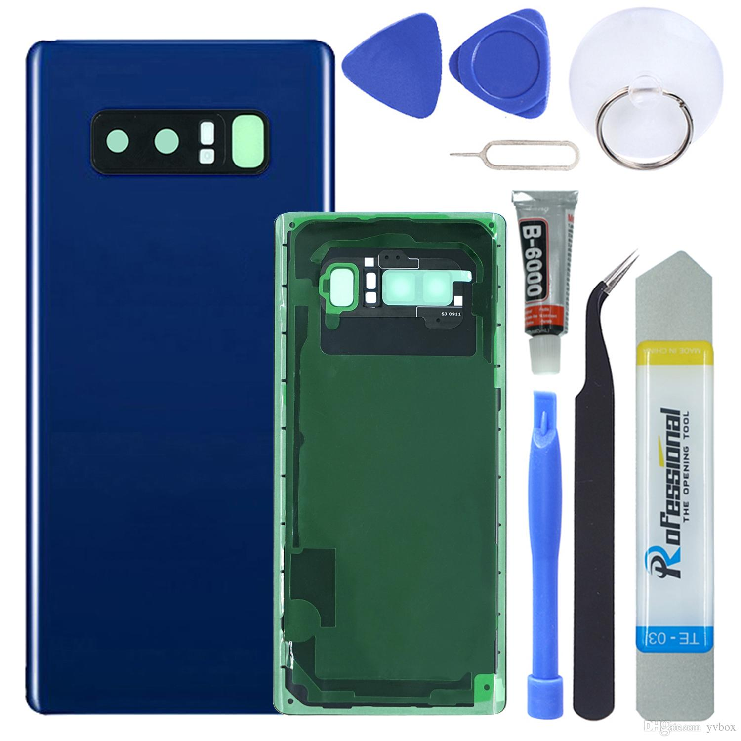 UK Shipping! Rear Glass Assembly for Samsung Galaxy Note 8 Back Glass Panel  Cover Camera Lens Fingerprint Sensor Adhesive Replacement