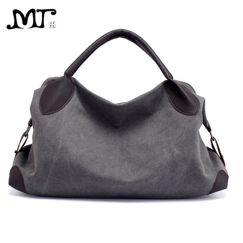 MJ Women Canvas Bag Female Casual Shoulder Bag Large Crossbody Handbag  Messenger Bags High Quality Canvas Travel Bags Big Tote Fashion Handbags  Large ... 4000c597fcefc