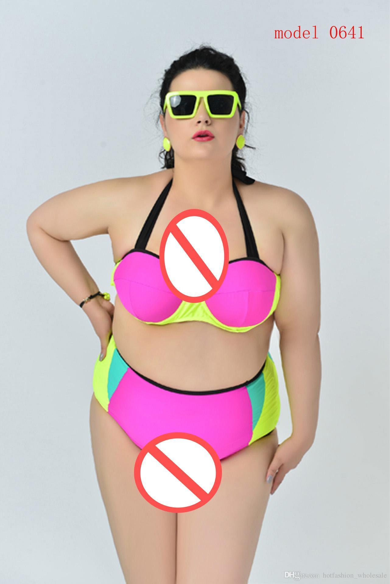Bikini da donna grassa Push Up Top Swimwear da bagno sexy Beach Wear costume da bagno costumi da bagno plus size Confortevole costume intero intero cut-out