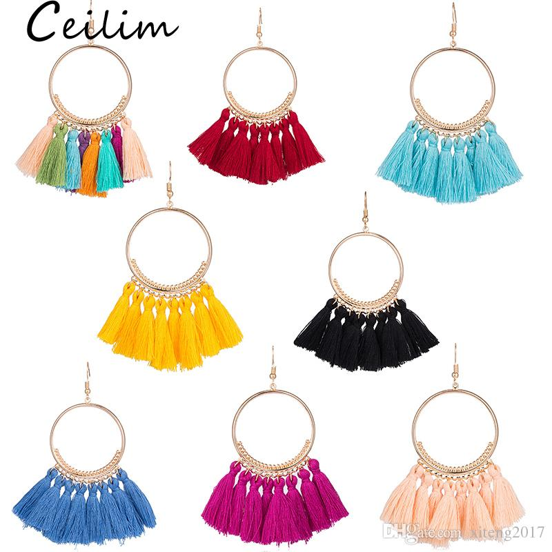 c8f2641ba 2019 Vintage Ethnic Long Tassel Earrings Alloy Plating Simple Dangle Drop  Earrings Women 2018 Bohemia Fashion Brand Jewelry Geometric Gift From  Xiteng2017, ...
