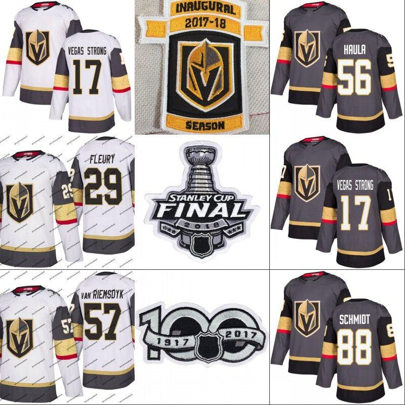 aa8af31e2b5 2019 Vegas Golden Knights 2018 Stanley Cup Final Jersey 17 Vegas Strong 56  Erik Haula 71 William Karlsson 81 Jonathan Marchessault Hockey Jerseys From  ...