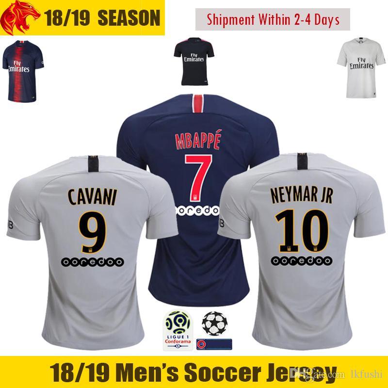 18 19 mbappe soccer jerseys 2018 2019 cavani jersey thiago motta verratti di maria football shirt t
