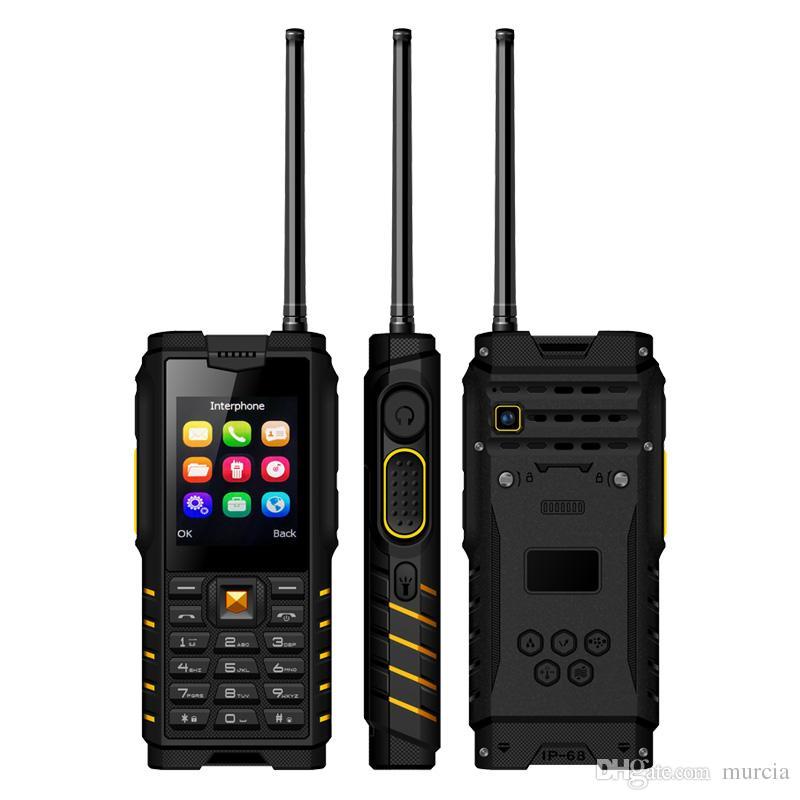 XGODY IP68 Shockproof Phone Walkie-talkie 2 4 Telefone Celular Strong  Flashlight Signal Loudspeaker T2 GSM 4500mAh Mobile Phone