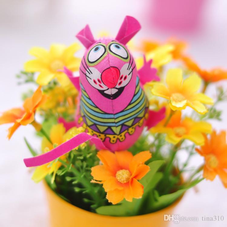 Новые продажи высокое качество игрушки для кошек красочные мыши форма забавная игрушка дети холст игрушки Зоотовары T3I0067