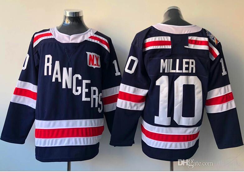 2018 Winter Classic New York Rangers Jerseys  10 Miller Jersey New Hockey  Jerseys Navy Blue Color Size M-XXXL All Jerseys Rangers Jerseys Miller  Online with ... a82f3e872