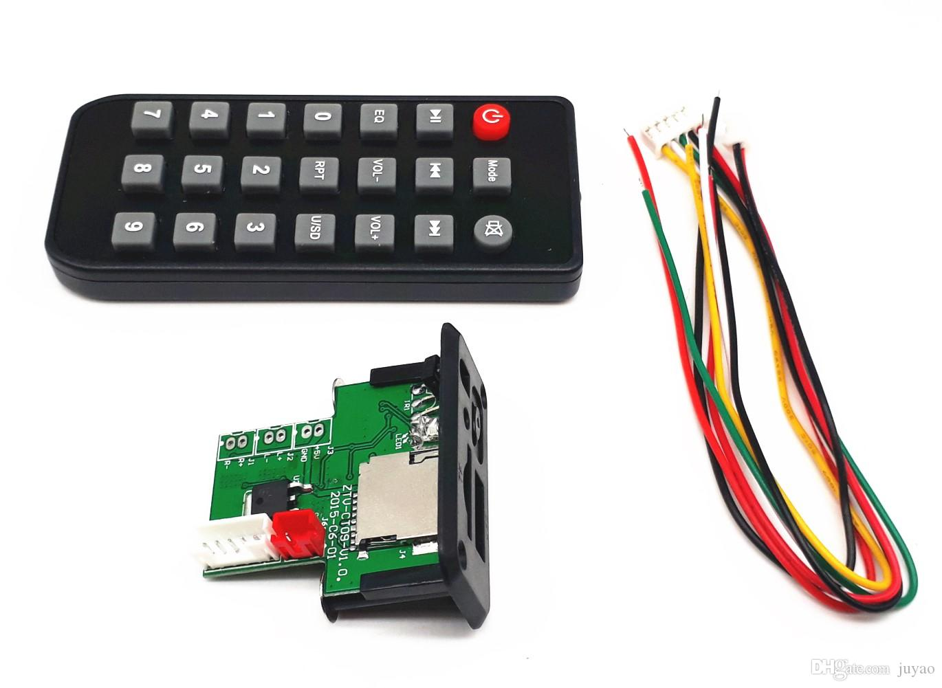 DC5V/12V Mini MP3 Decoder Board Decoding Module Speaker Parts, Connect MP3 USB TF Card for Car/Stereo Modification