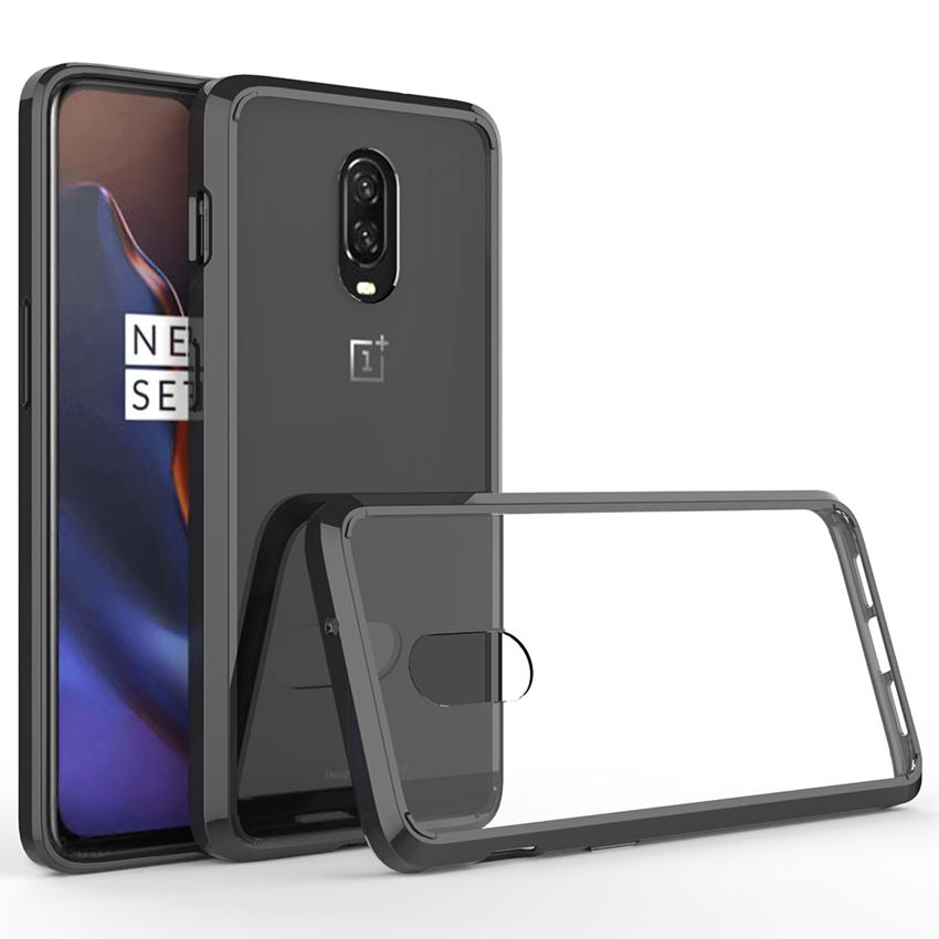 wholesale dealer a428f f8195 Soft Silicon TPU/PC Case For OnePlus 6T Fundas Coque Shockproof Crystal  Clear Shell Hard Back Cover For One Plus 6T 1 6T