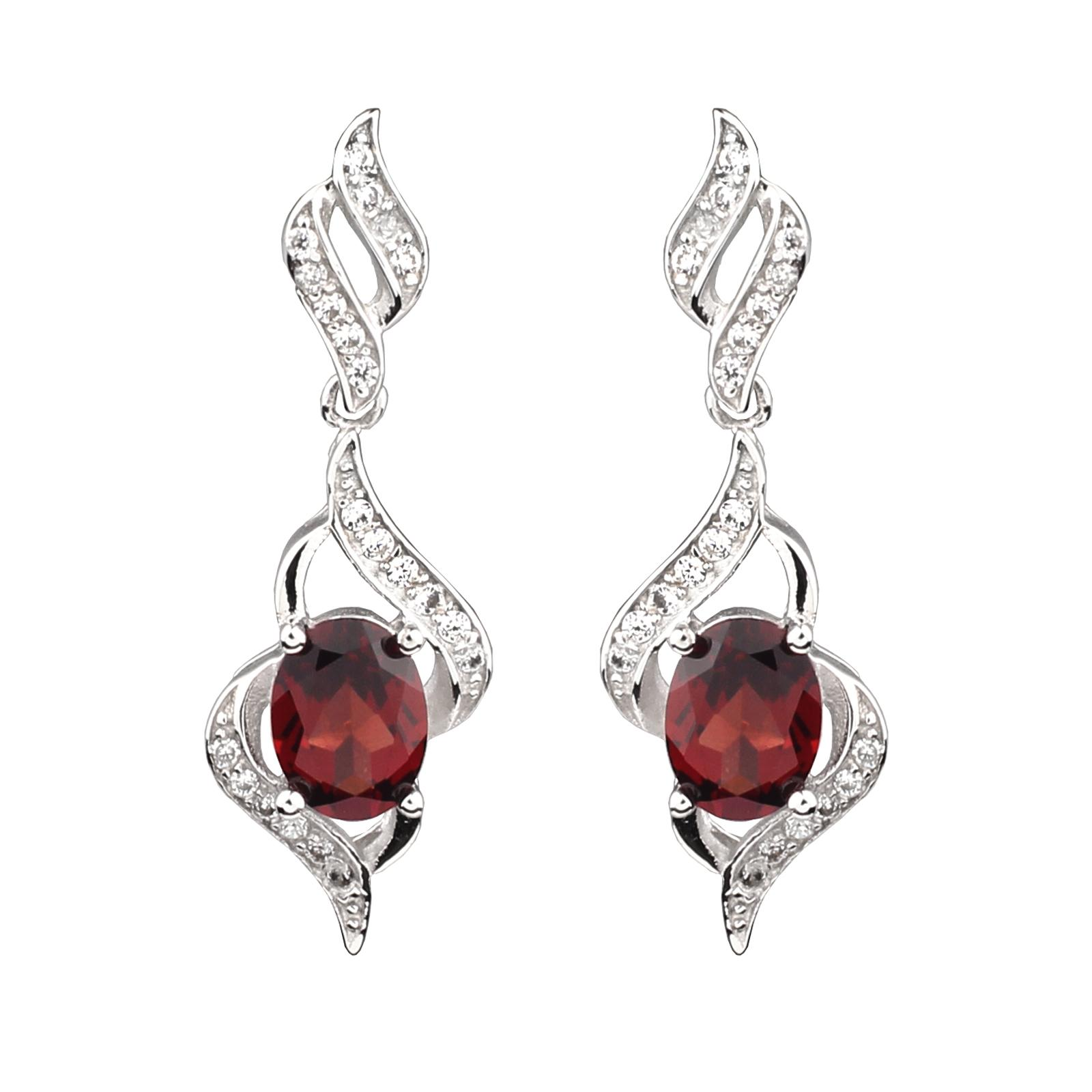 Jewelry & Watches Natural Red Ruby Emerald 925 Silver Earrings Necklace Set Jewelry Making Things Convenient For Customers Fine Jewelry