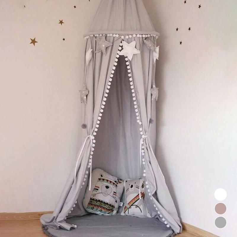 Grosshandel Kreative Kinder Bettwasche Runde Dome Betthimmel