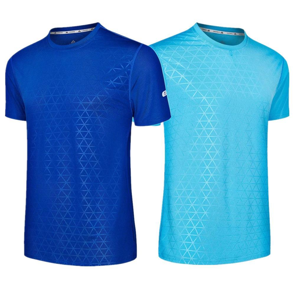 7e6c13bdad 2019 MEN WOMEN Running T Shirt Spring Summer Sports Breathable Quick Dry  Round Collar Fitness Training Football Shirts Short Sleeves From Lvmangguo,  ...