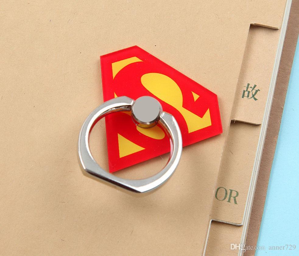 Super Hero Superman Batman Fingerring Telefonhalter Universal 360 Grip Stent für Smartphones Tablets Flexibler Ständerhalter mit Kleinkasten