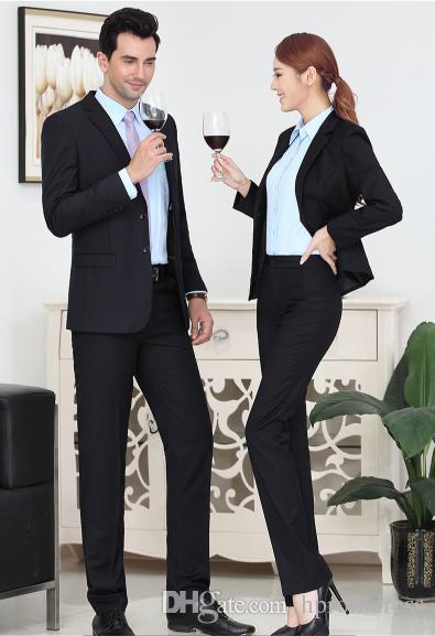 ce7f97c2be6 New Arrive Men s women s professional suits fashion high quality suit set  groom business suit men set Tops + pants Asia XS-5XL