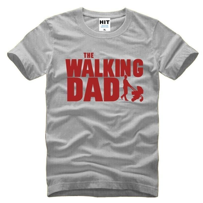 eb840fb3 The Walking Dad Fathers Day Gift Men's Funny T-Shirt T Shirt Men 2017 New  Short Sleeve Cotton Novelty Top Tee Camisetas Hombre