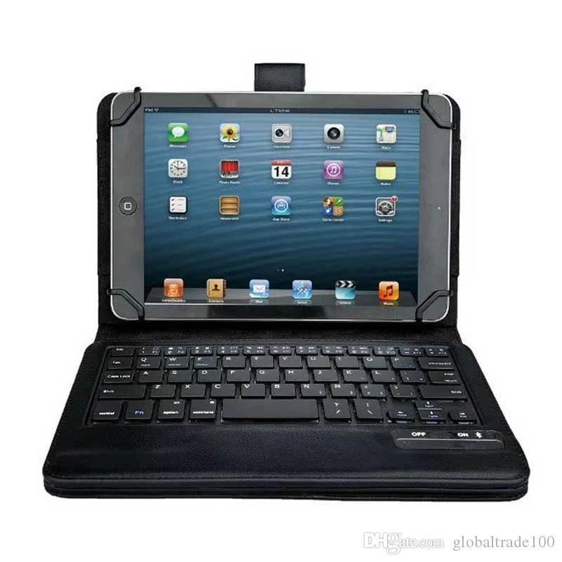 Universal Wireless Bluetooth Keyboard Case Removable Keyboard Leather Cases With Stand Cover for Tablet PC Android Windows