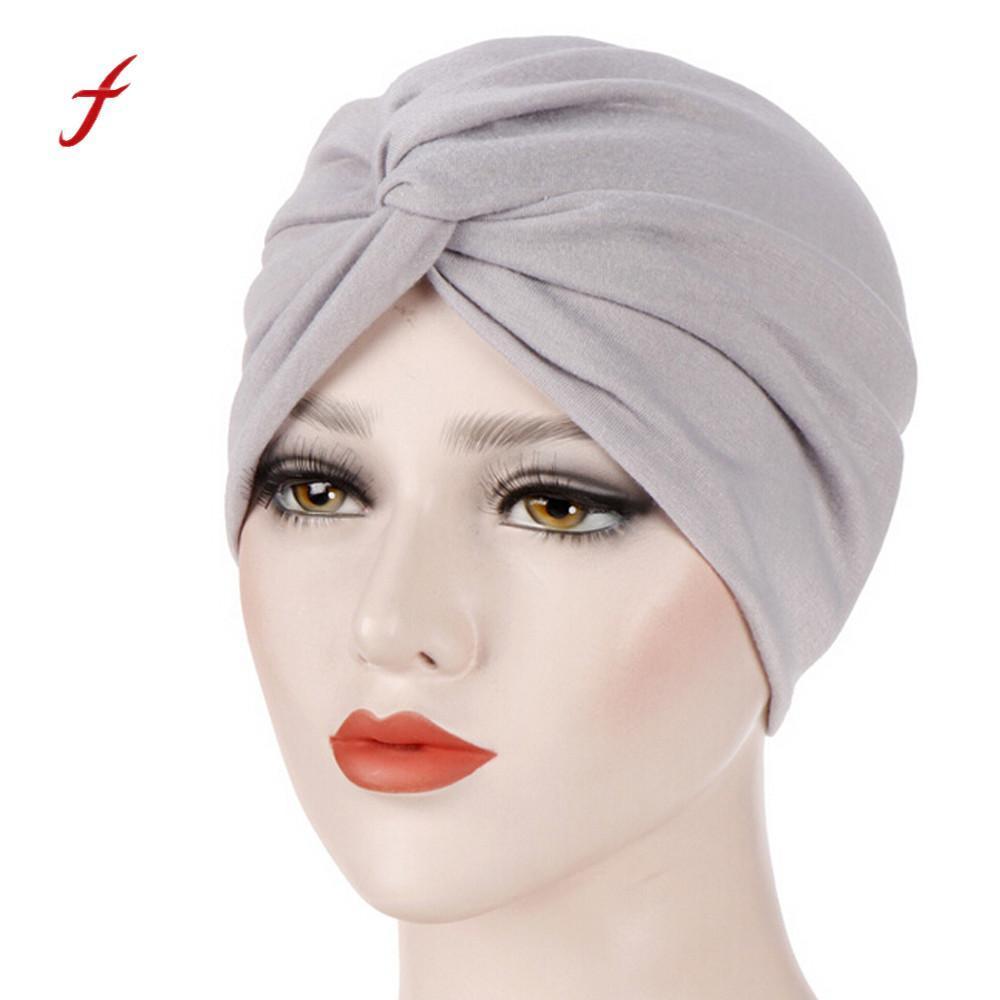 Compre Feitong 2018 Bufanda Cruzada Musulmana Casquillo Interior De Hijab  Sombrero Islámico Desgaste De La Cabeza Mujeres India Ruffle Cáncer Chemo  Turbante ... 0a27748342c