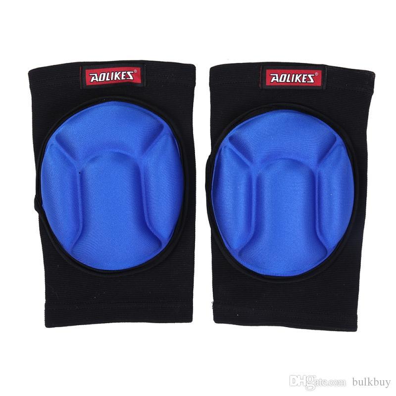 الأسود والأزرق الرياضة المضادة للتصادم وسادة الإسفنج الركبة دعم زوج النيوبرين الحرس حماية العتاد